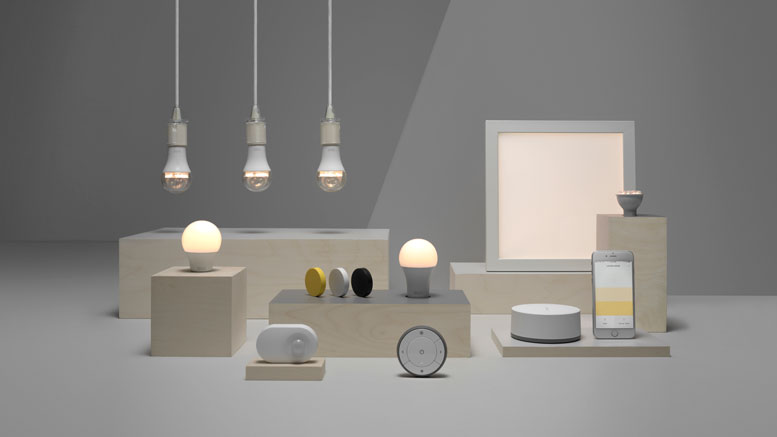 video ikea introduces new tr dfri zigbee based smart home. Black Bedroom Furniture Sets. Home Design Ideas