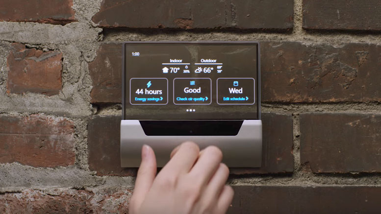 Video Microsoft Tease Glas Smart Thermostat From Johnson