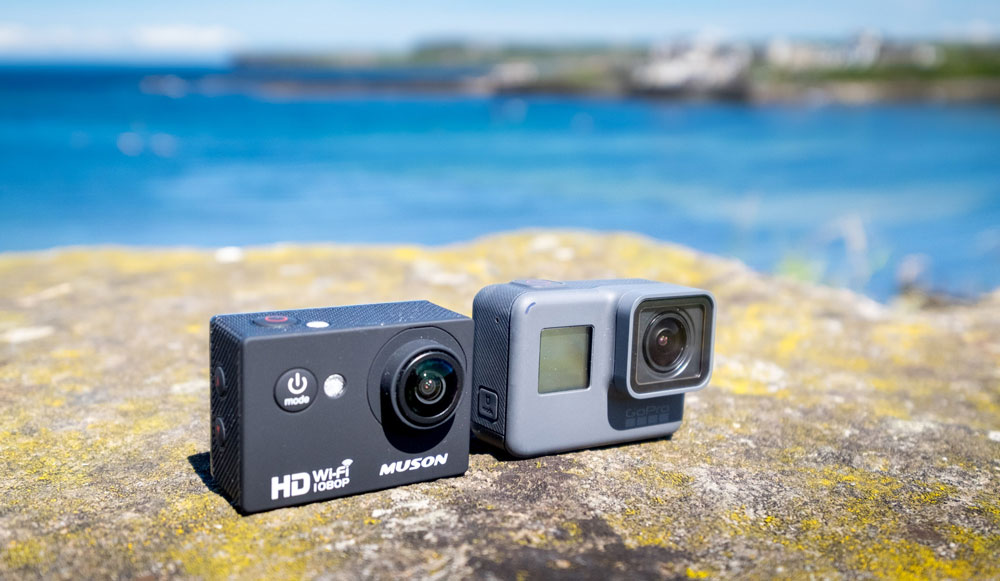 Muson MC1 Action Camera compared to the GoPro Hero 5 Black
