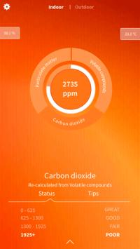 Foobot Air Quality Monitor - App