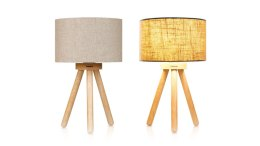 Tomons Wood Tripod Bedside Lamp