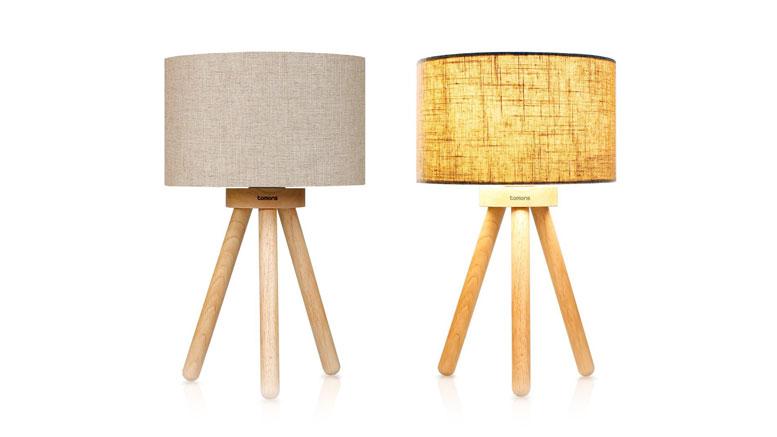 Tomons Wood Tripod Bedside Lamp