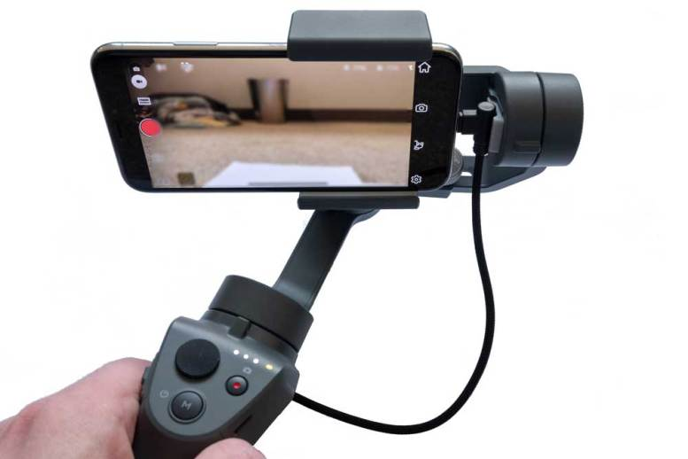DJI Osmo 2 Mobile with 90 Degree USB Charging Cable