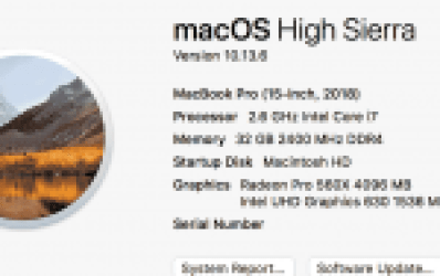 About MacBook Pro 2018
