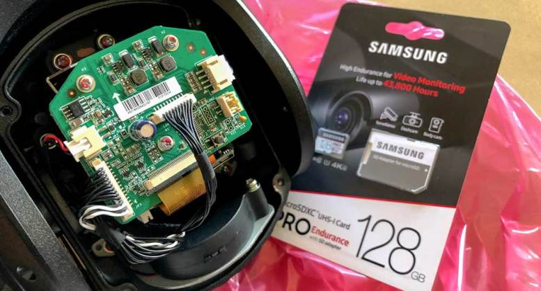 Fittig the SD Card to PTZ Hikvision Camera