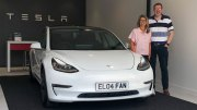 Collecting our Tesla Model 3 from Edinburgh