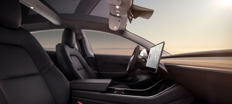 Tesla Model 3 UK Interior