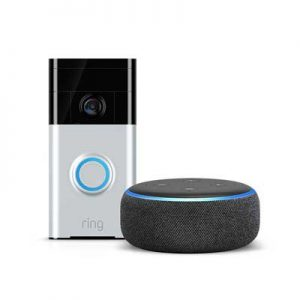 Ring Smart Doorbell plus Free AMazon Echo
