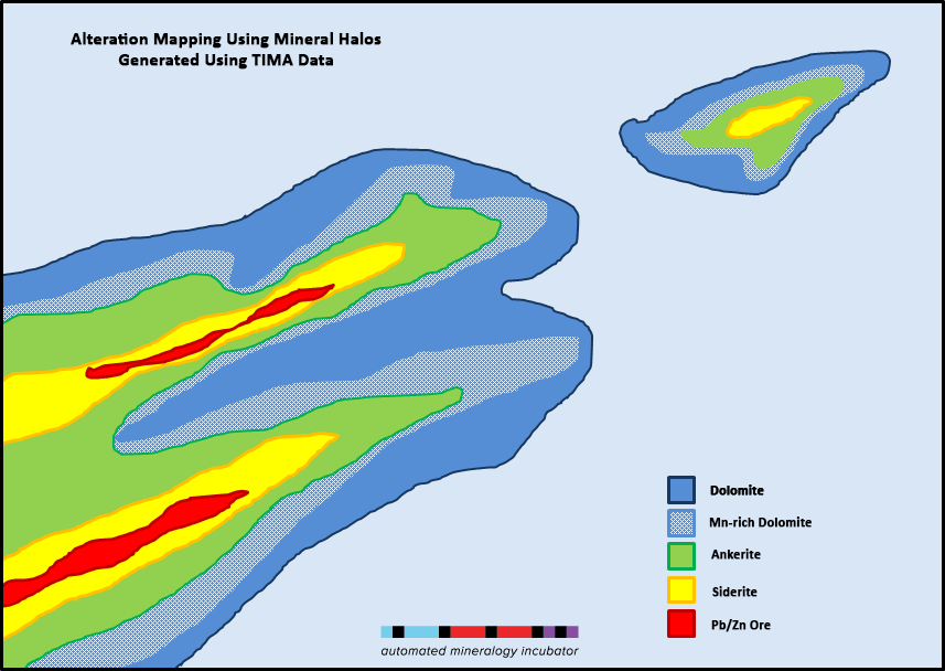 Mineral alteration map TIMA data