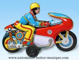 fer blanc jouet mecanique moto
