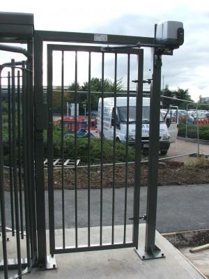 Pedestrian Gates on a turnstile