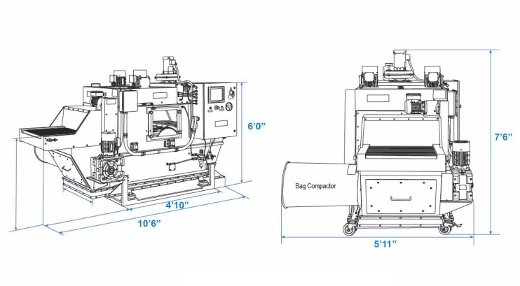 Twin Blade Bag Slitter - Dimensions