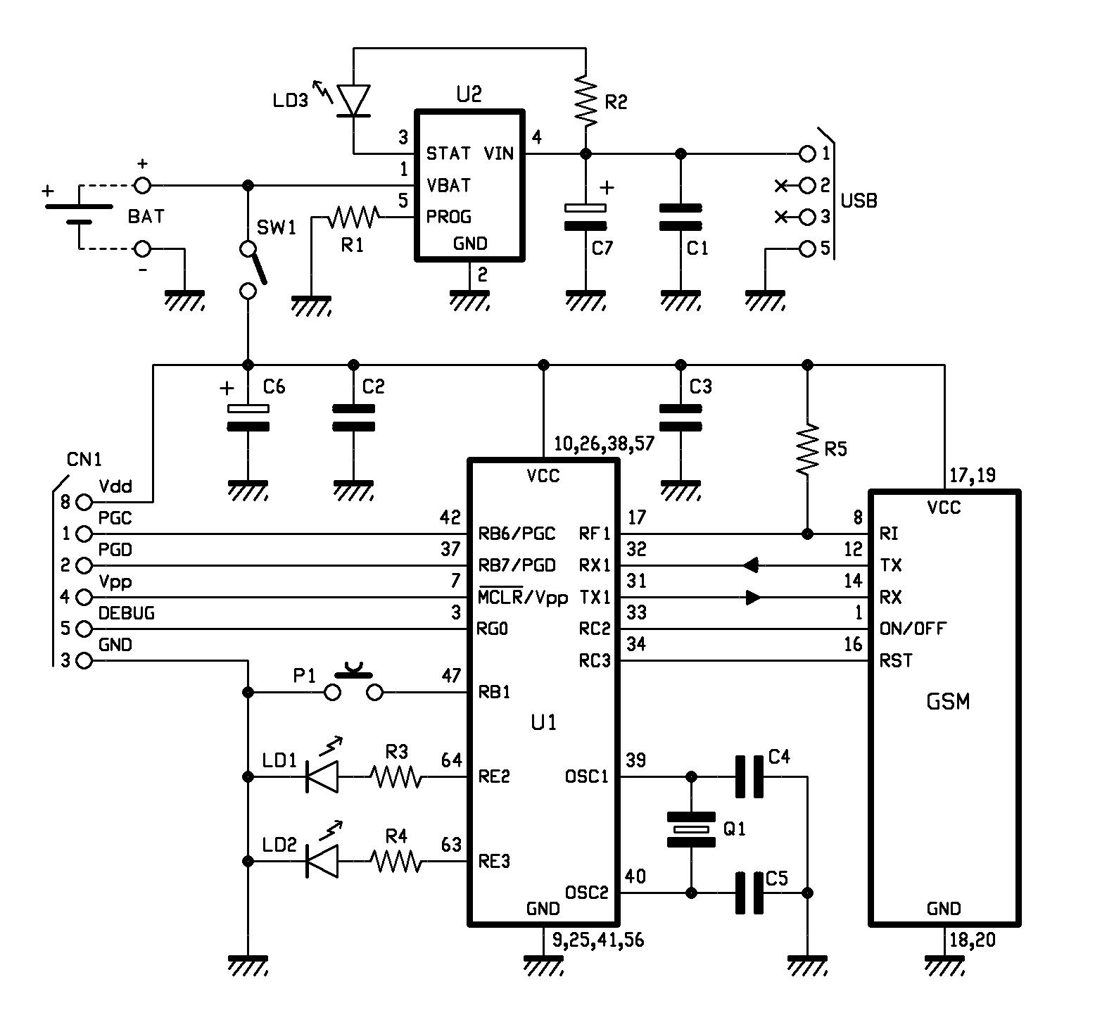 Localizador Gsm Gps Con Pic Y Modulo Sim908 Automatismos