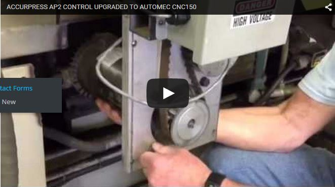 Press Brake Control Retrofit for Accurpress AP2 Backgauge Systems