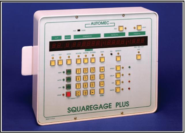 squaregage plus front gauge control system