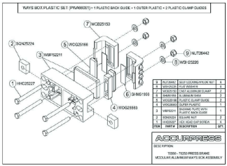 70060-70250-Press Brake Modular Aluminum Ways Box Assembly
