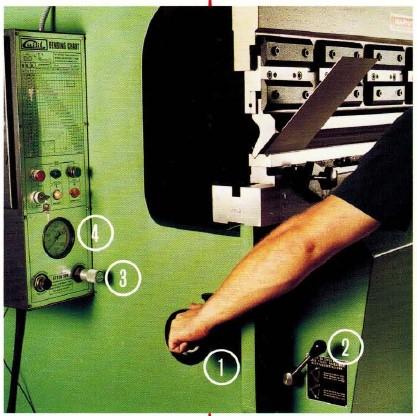 Guifil press brake set-up