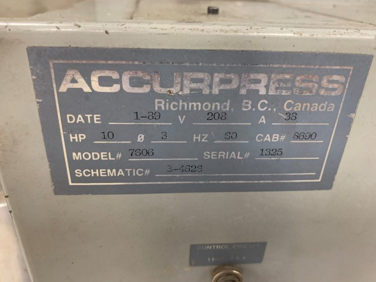 Used Accurpress 2