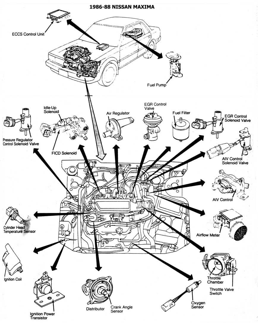 Marvellous nissan maxima engine diagram of 1986 contemporary best