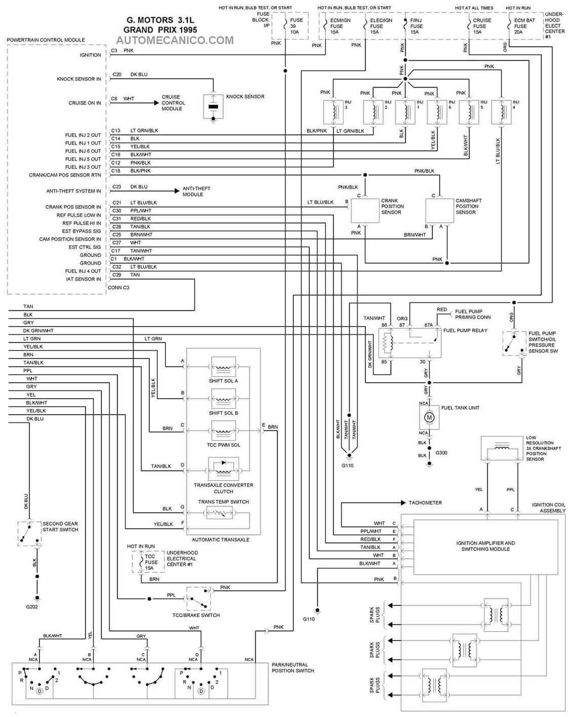 1992 Pontiac Grand Prix Engine Diagram