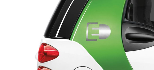 L'exterieur de la Smart Electric Drive