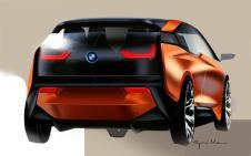 Premiers croquis de l'arrière de la BMW i3 Coupé