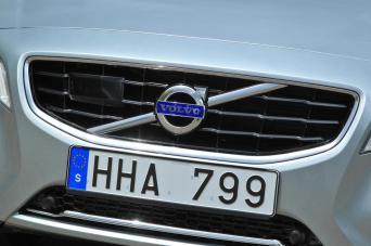 La grille avant de la Volvo V60.