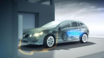 La V60 hybride utilise une batterie lithium-ion d'une capacité d'11,2 kWh.