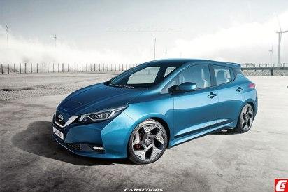 Nouvelle Nissan Leaf - Design non officiel imaginé par CarScoops