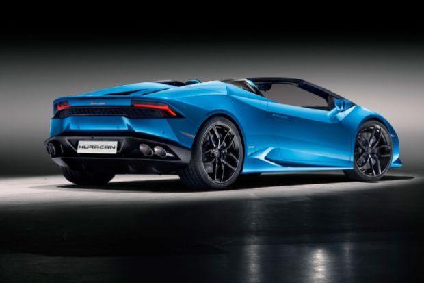 Lamborghini Huracan Spyder Rear Side View