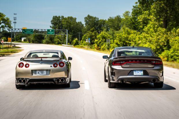 2015 Dodge Charger SRT Hellcat Vs 2016 Nissan GT R 19