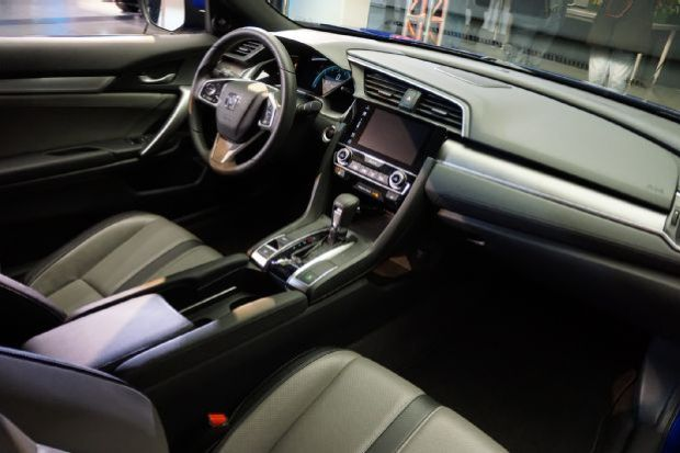 2016 Honda Civic Coupe Reveal Dashboard