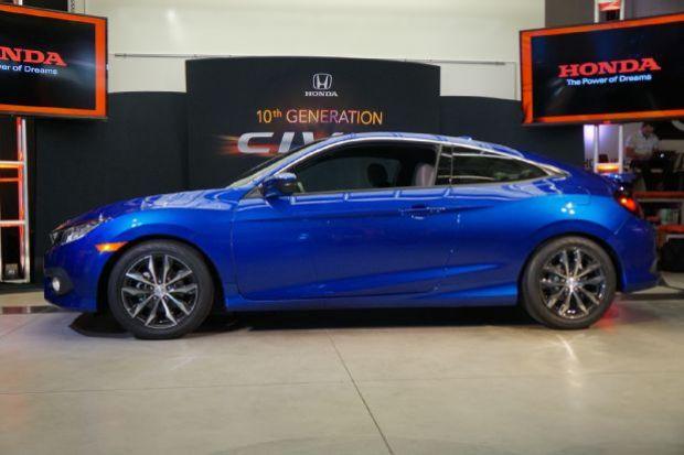 2016 Honda Civic Coupe Reveal Profile