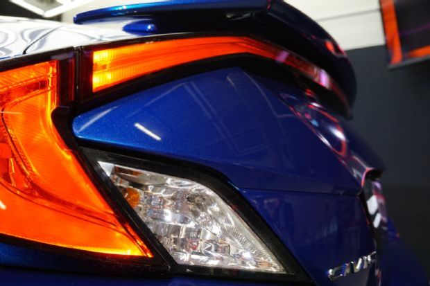 2016 Honda Civic Coupe Reveal Taillight Detail