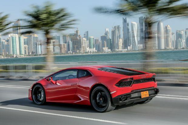2016 Lamborghini Huracan LP580 2 Rear Three Quarter In Motion