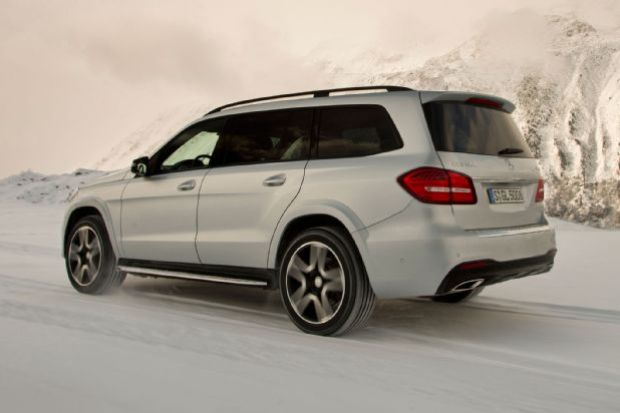 2017 Mercedes Benz GLS550 4Matic Rear Side View On Road
