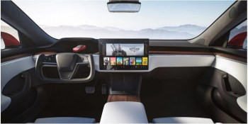 Refreshed 2021 Tesla Model S revealed with airplane yoke steering wheel, 520-plus-mile range