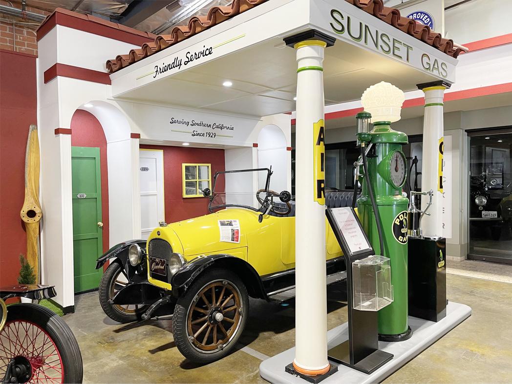 1920's Vintage Gas Station Facade