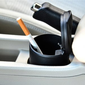 High Temperature Car Ashtray Portable Car Ashtray Home Office Smokeless Ashtray Cigarette Cylinder Ashtray Holder