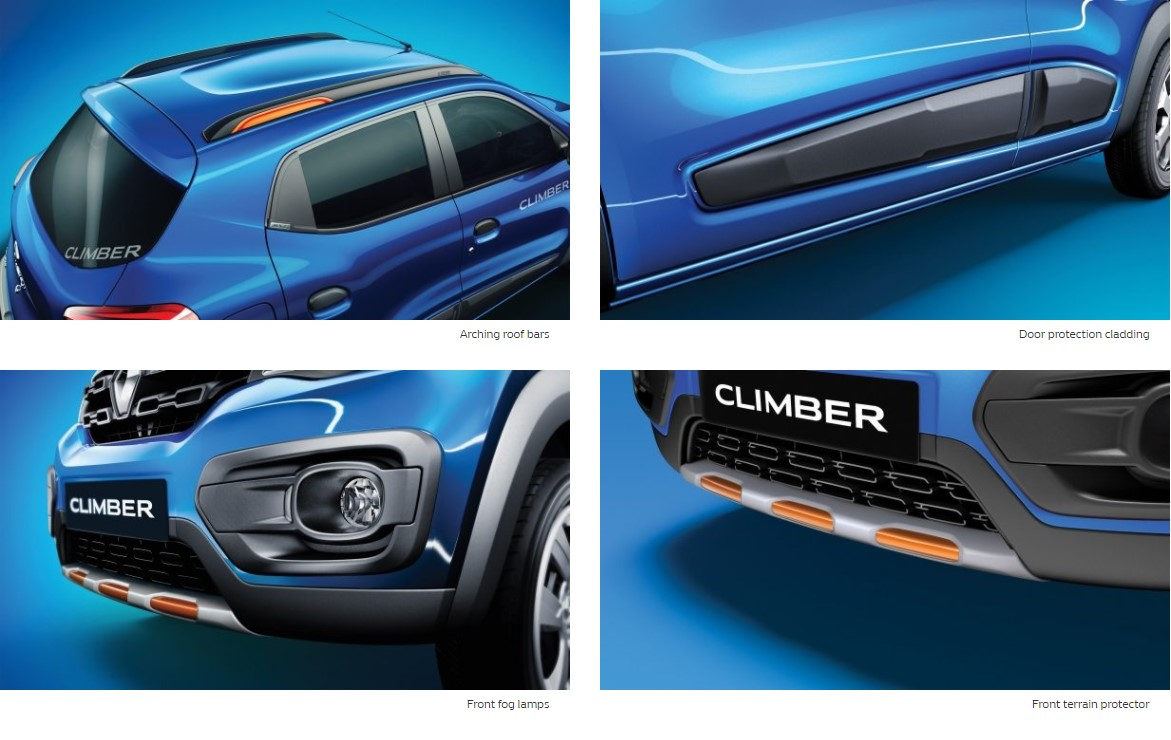 Kwid Climber Features exterior electric blue
