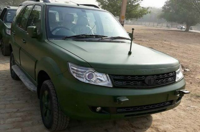 Tata safari matte green military indian army