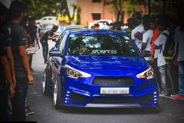 Hyundai Elite i20 Modified Blue Devil