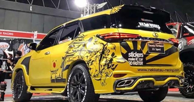 Toyota fortuner modified 2018 yellow beast1