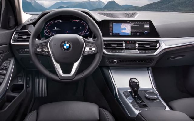 BMW 3 series Interior steering wheel gearbox touchscreen 2019