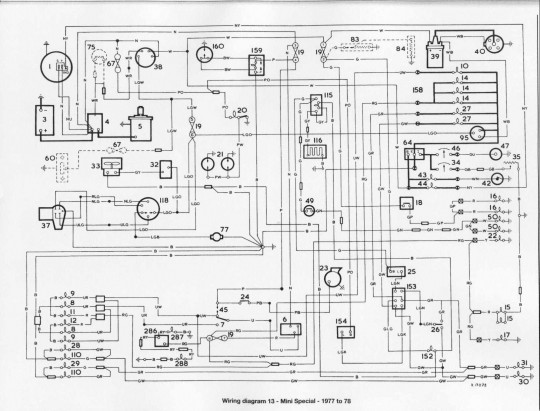 wiring diagram of 1977 1978 mini special mini spi wiring diagram mini cooper wiring diagrams for diy car bmw mini wiring diagrams at edmiracle.co