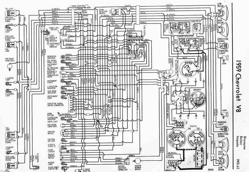 electrical wiring diagram of 1959 chevrolet v8 impala wiring diagram 83 chevy vin 1gcdc14h8df319440 chevrolet wiring  at n-0.co