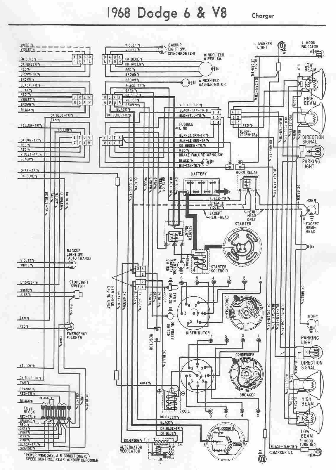 Dodge  car manuals, wiring diagrams PDF & fault codes