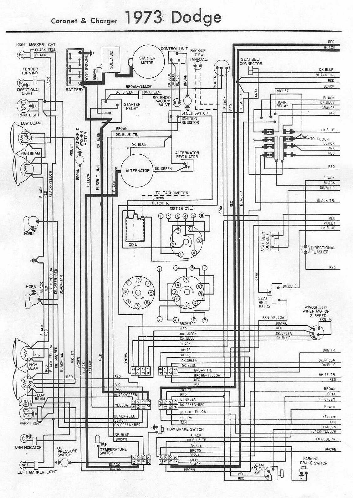 1973 Dodge Challenger Wiring Schematic | Wiring Diagram