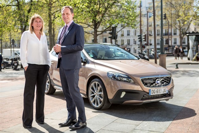 NATHALIE DUNEAU DIRECTRICE MARKETING ET YVES PASQUIER DESVIGNES PRESIDENT DE VOLVO CAR FRANCE