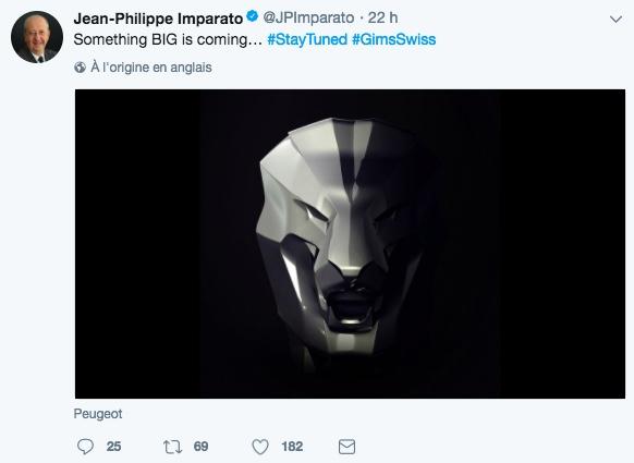 Peugeot exposera un lion monumental au salon de Genève